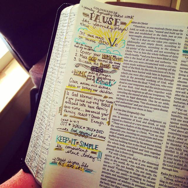 "Journaling Bible | ""Pause"" 