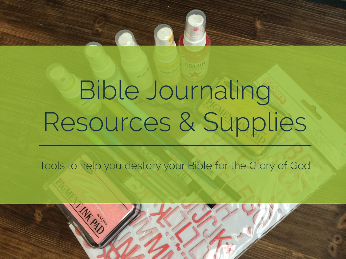 Journaling Bible Resources & Supplies