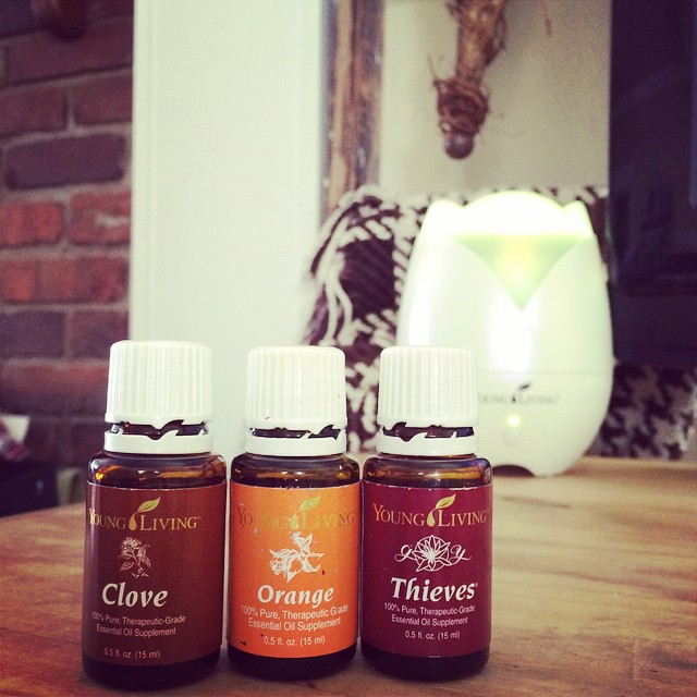Clove, Orange and Thieves in the Diffuser | apileofashes.com