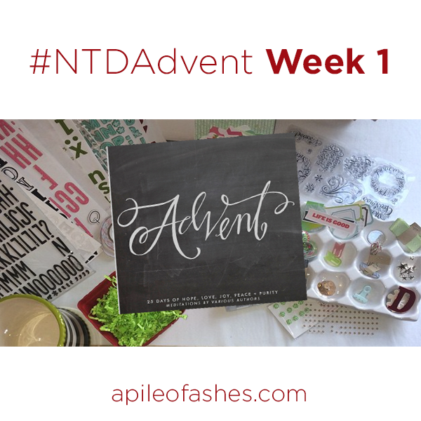 #NTDAdvent Journaling Bible Week 1 | apileofashes.com
