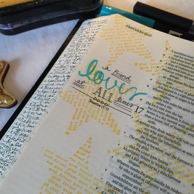 Journaling Bible   Good Friends apileofashes.com