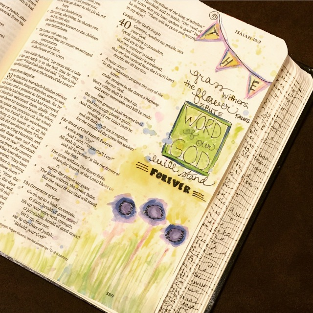 Journaling Bible | Grass Withers apileofashes.com