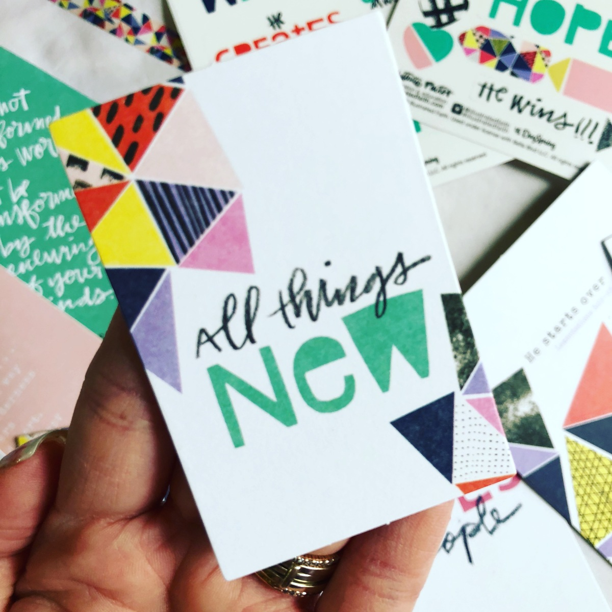 All Things NEW | Illustrated Faith Bible Journaling Kit March 2018